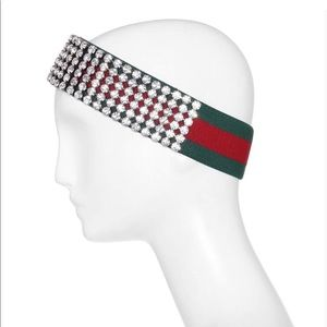 Accessories - Gucci crystal embellished ribbed headband 4c7659aa455